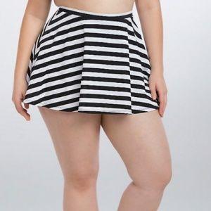 torrid Swim - Torrid Black White Stripe High Waisted Swim Skirt
